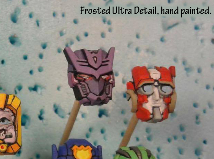 Tarn Faceplate (Titans Return-Compatible) 3d printed Hand painted frosted ultra detail, shown with Rung