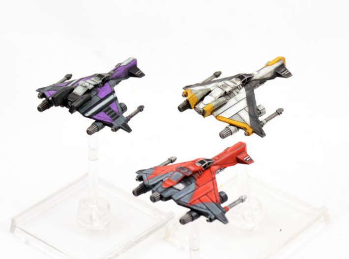 3 pack Vaksai Starfighter S2 Variants 1/270 3d printed
