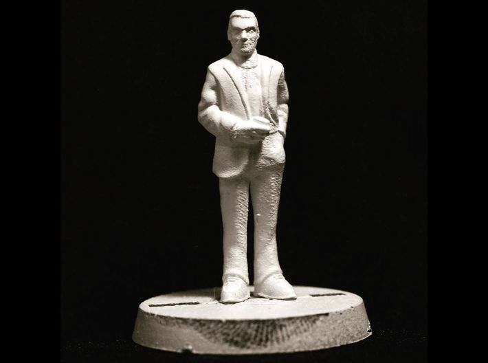 Ron Rolson: 28mm 1960s Ad Man 3d printed Primed Frosted Ultra Detail