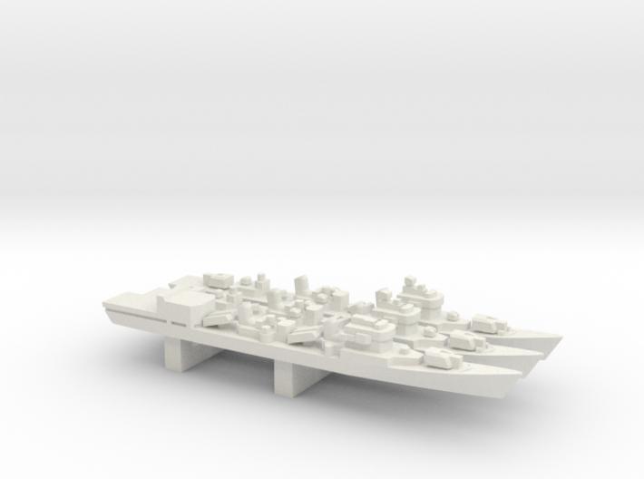 051 Destroyer Luda II/III pack, 3pc, 1/3000 3d printed