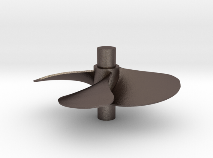 4 blade 5 inch right hand propeller 3d printed