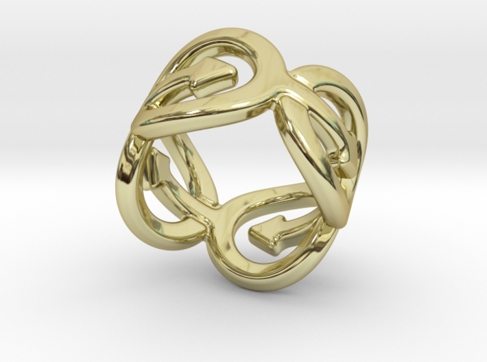 Coming Out Ring 22 – Italian Size 22 3d printed