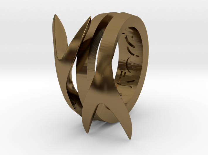TAILS ring 3d printed