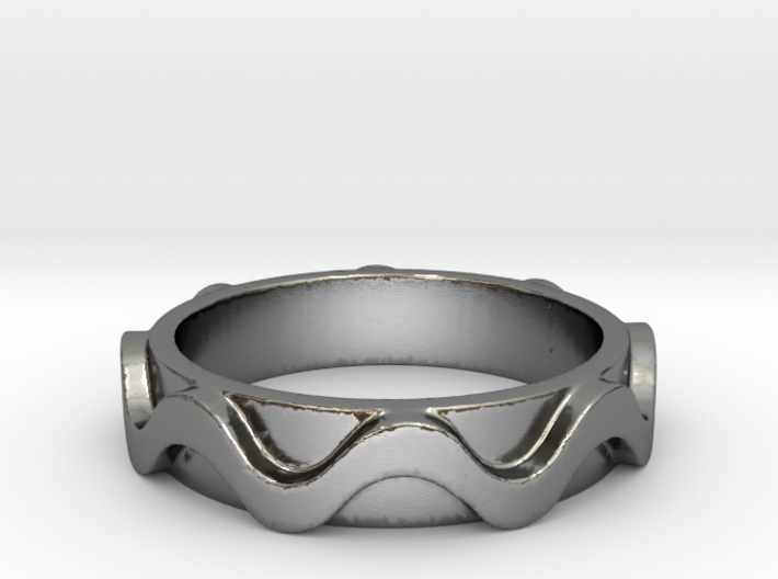 Copa band Ring Size 5 3d printed
