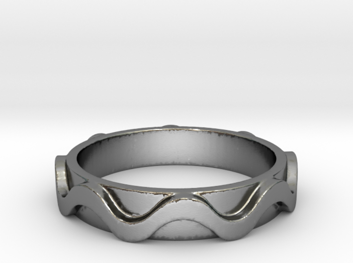 Copa band Ring Size 8 3d printed
