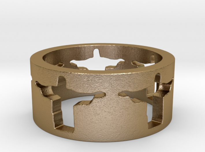 Cristo band Ring Size 7 3d printed