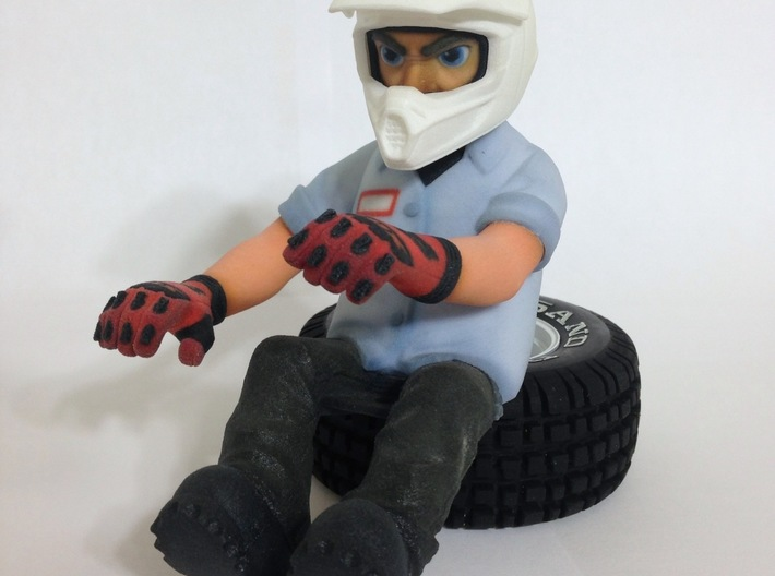"""WW10012 Wild Willy Moto Colour Printed Face 3d printed Complete figure - click """"Add Set to Cart"""" below to buy all parts needed to complete the figure"""