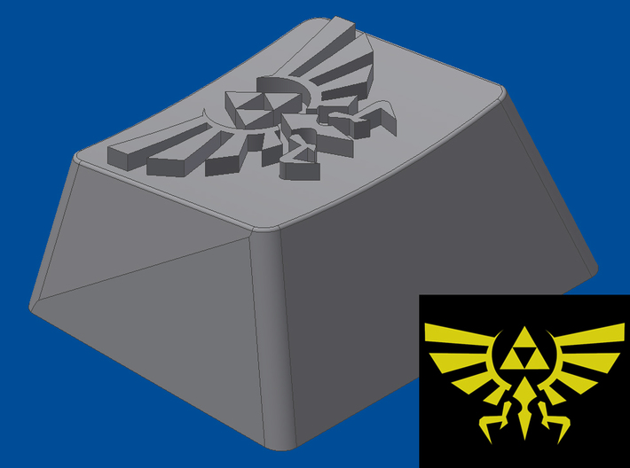 Legend of Zelda - Hyrule/Royal Crest (R1, 1.25x) 3d printed