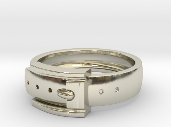 Belt Buckle Ring (Sizes 5 - 11.5) (Customisable) 3d printed