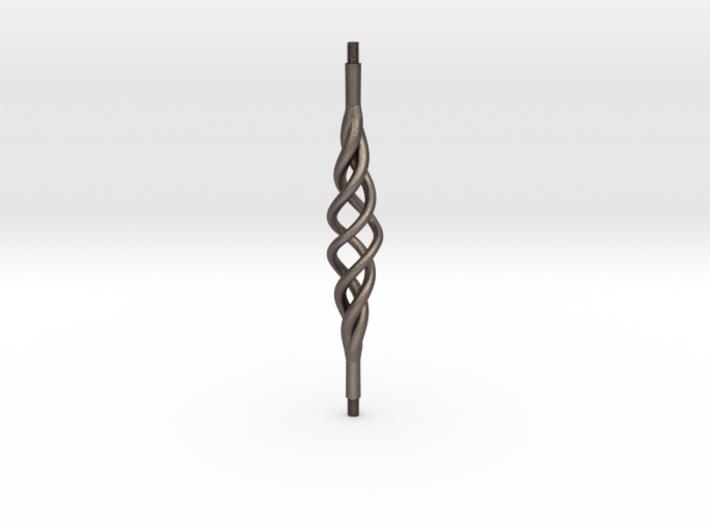 Industrial Bar Tri-Spiral 3d printed