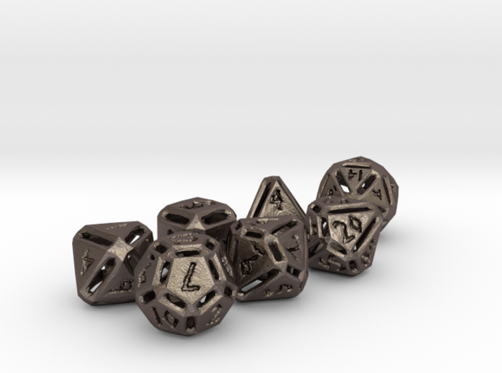 Rough Poly Dice Set 3d printed
