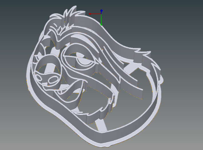 Zootopia's Flash Cookie Cutter 3d printed