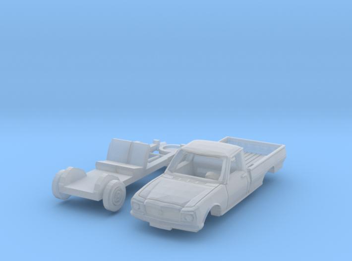 Peugeot 504 Pick-up (N 1:160) 3d printed