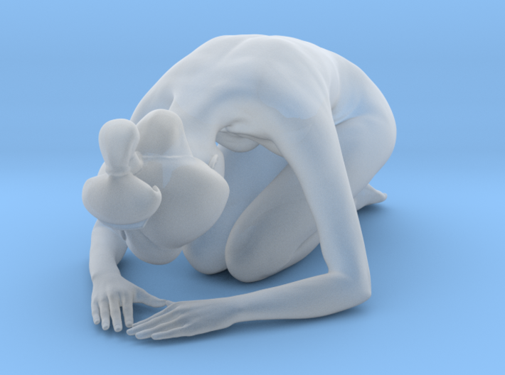 Classical Japanese girl 012 1/24 3d printed