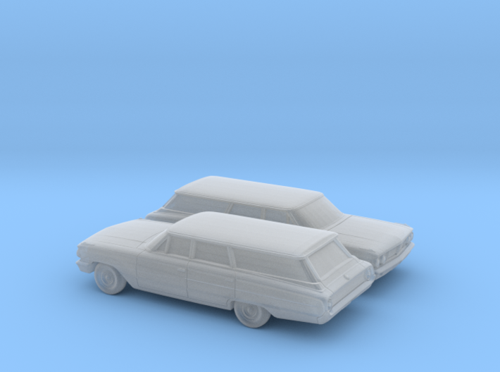 1/160 2X 1964 Ford Galaxie Station Wagon 3d printed