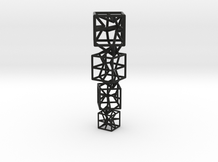 4 stylized cubes composition, can be used as a nec 3d printed