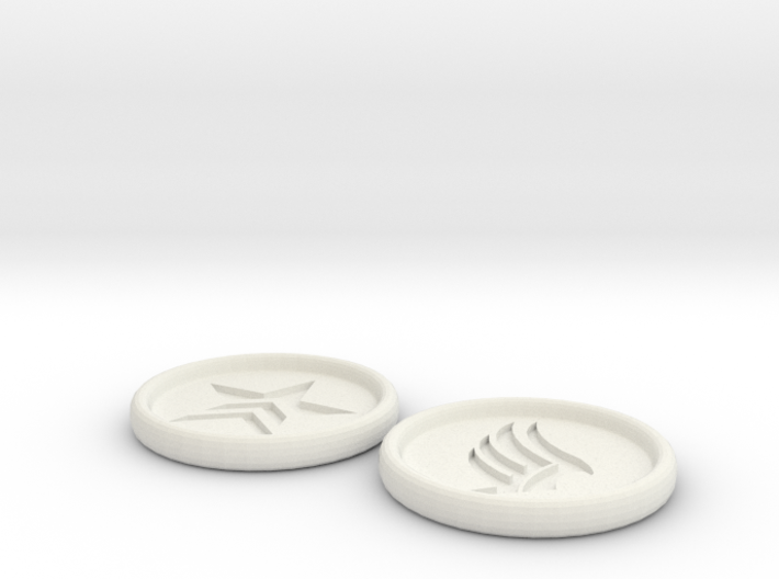 Renegade Paragon Buttons 3 inch 3d printed
