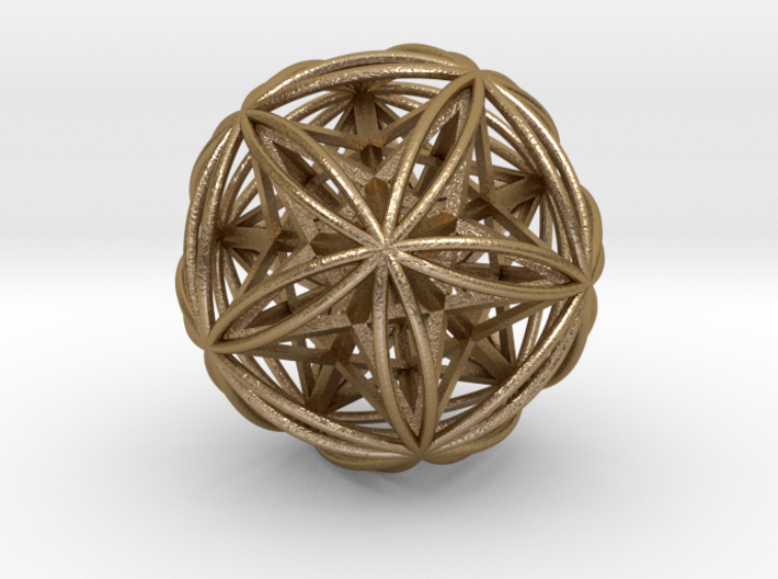 Icosasphere w/ Nested Stellated Dodecahedron 3d printed