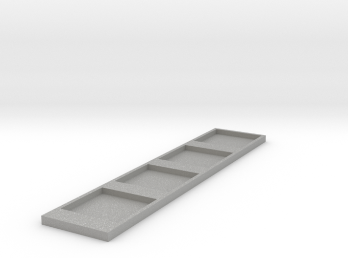 Narrow Shallow Cube Tray 3d printed