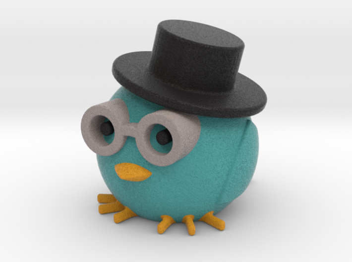 Owl with hat 3d printed