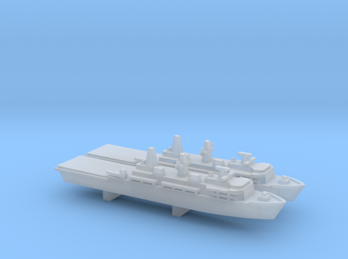 Albion-class LPD x 2, 1/6000 3d printed