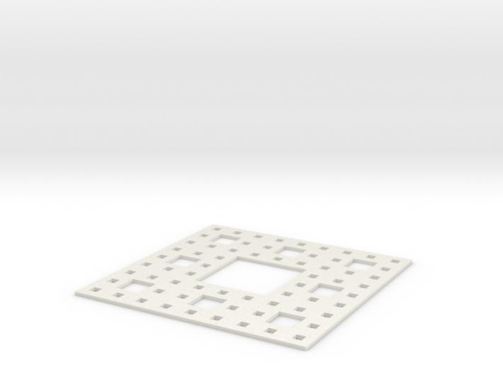 Sierpinski carpet Level 3 3d printed