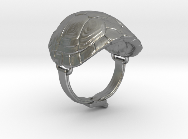 Turtle Ring 3d printed