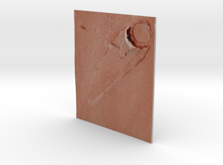 Mars Map: Ring And Cone - Red 3d printed