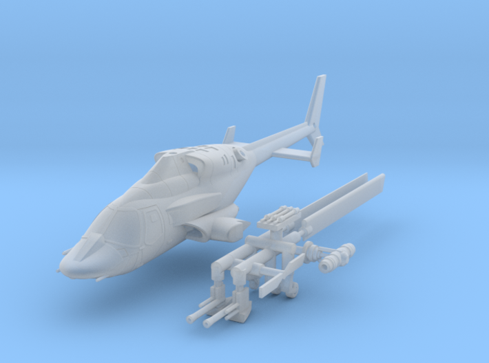 030C Modified Bell 222 1/100 3d printed