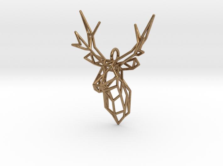Stag Deer Facing Forward Pendant 3d printed