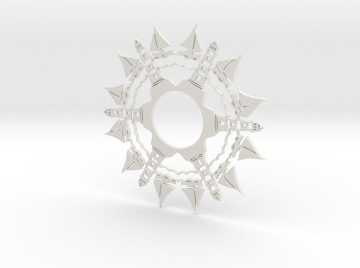 Sailboats & Lighthouses Snowflake Ornament 3d printed