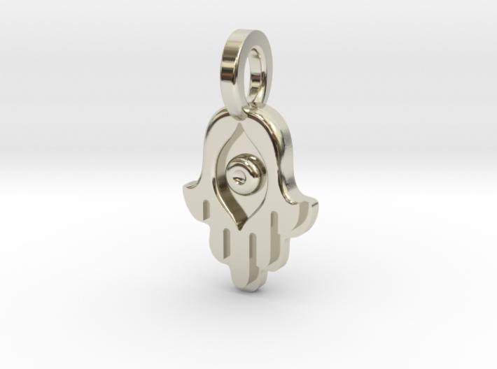 Hamsa charm by Bixie Studios 3d printed
