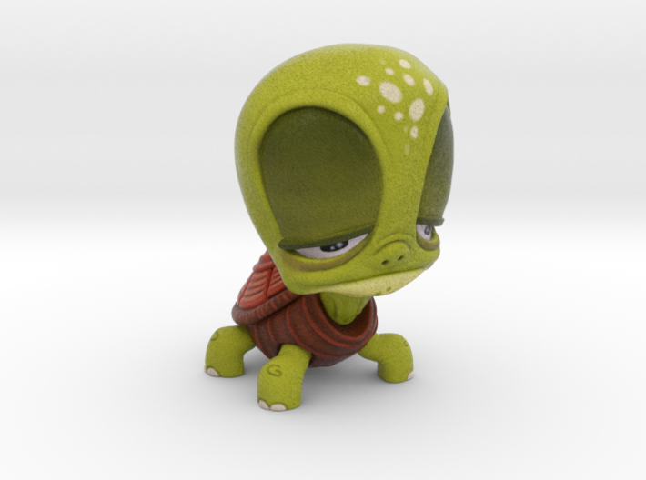 Tired Turtle 3d printed