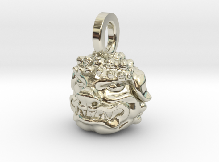 Foo Dog charm by Bixie Studios 3d printed