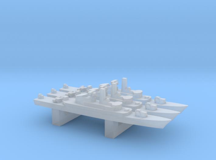 Alvand-class frigate (w/ C-802 AShM) x 3, 1/6000 3d printed