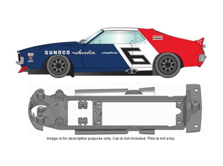 S12-ST4 Chassis for Scalextric AMC Javelin SSD/STD 3d printed
