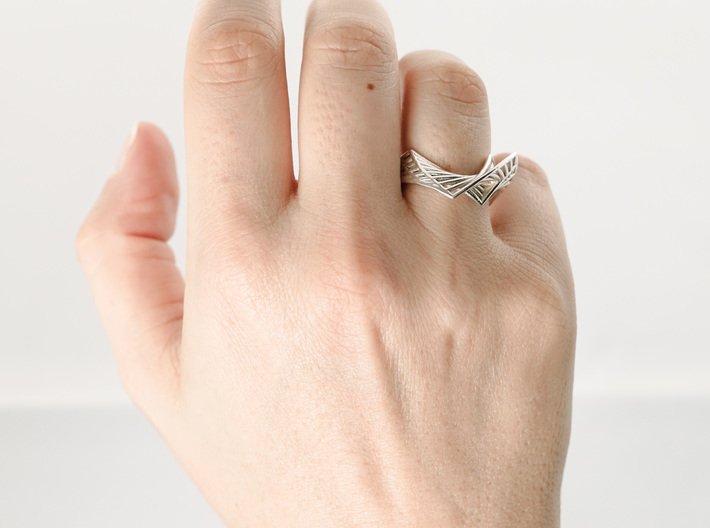 Folded Ring 3d printed