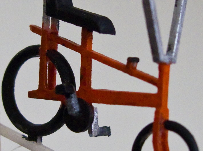 "O gauge (1:43) ""Chopper"" bike 4 pack 3d printed Test print assembled and painted."