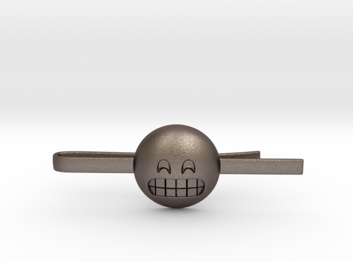 Grinning Tie Clip 3d printed