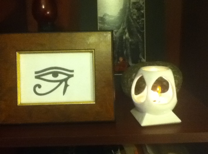 "Mystic Altar Oil Lamp ""Phi"" 3d printed The Pharoahs of Egypt venerated Phi as the prime scision."