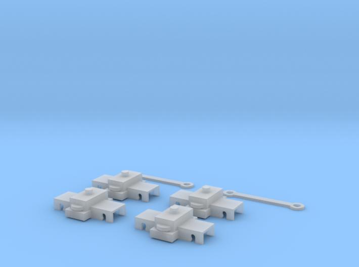 N Scale Bart Trucks 3d printed
