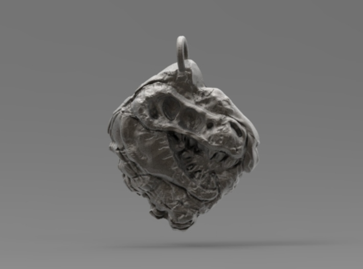 Rex's Fossil Pendant 3d printed