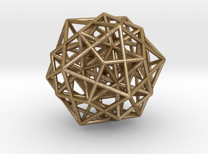 Icosa/Dodeca Combo w/nested Stellated Icosahedron 3d printed