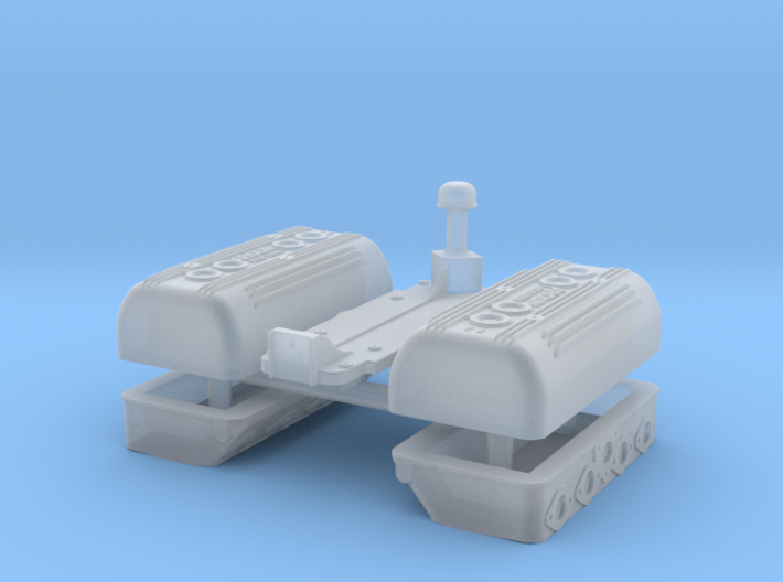 1/24 Flathead Ardun Head Kit 3d printed