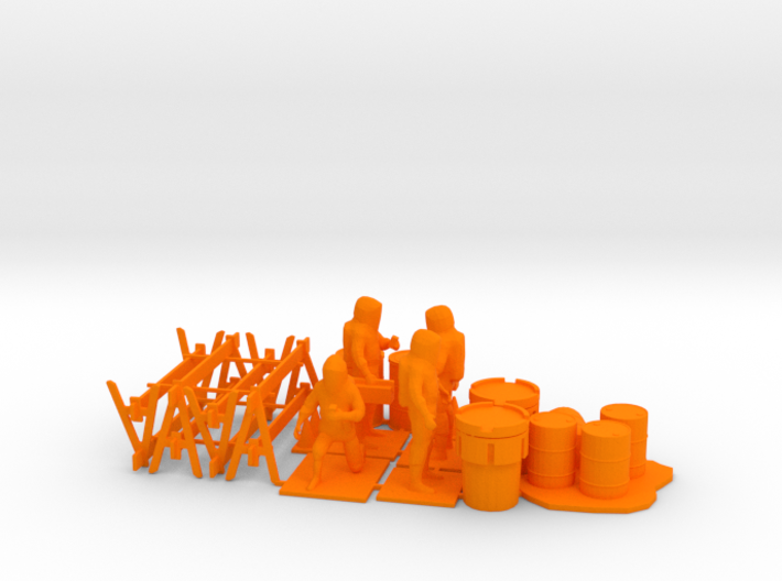 Hazmat Team 4, Multiple Scales 3d printed