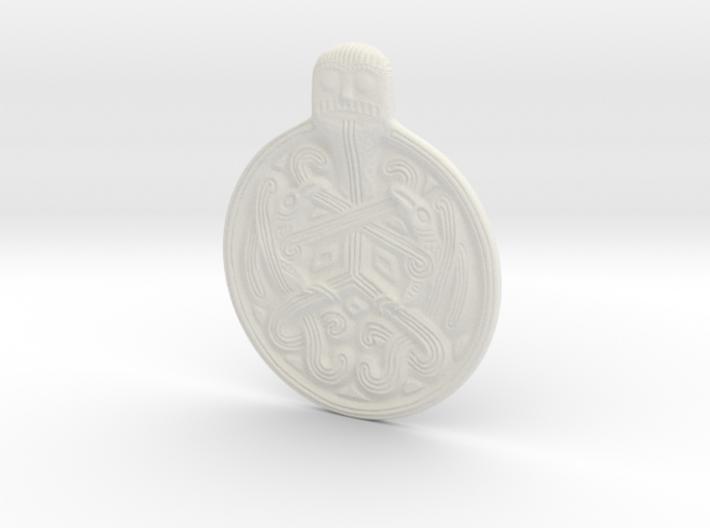 Odin Medallion 3d printed