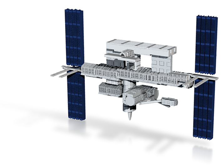 ISS (The International Space Station) 3d printed