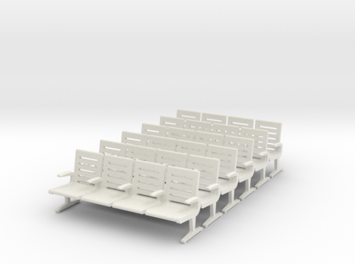 Modern Seat X 6. - 1 To 64 Scale 3d printed