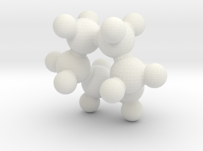 Cyclohexane (boat) 3d printed