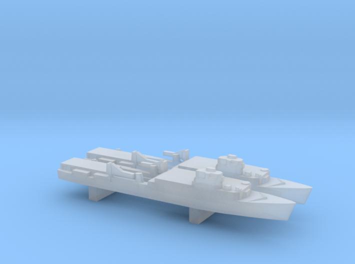 Ouragan-class LPD x 2, 1/6000 3d printed